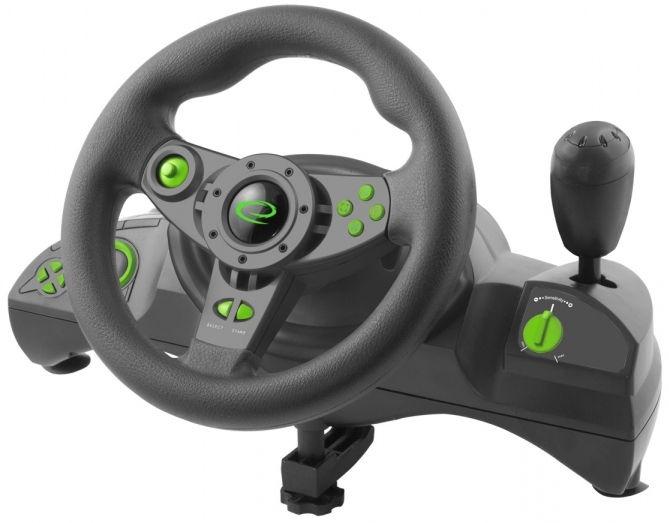 Игровой руль Esperanza Nitro Steering Wheel Black