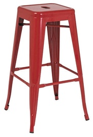 Signal Meble Hoker Long Bar Stool Red