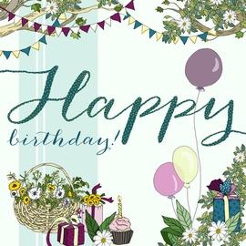 Clear Creations Balloon Birthday Card CL2117