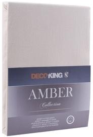 Palags DecoKing Amber, bēša, 240x220 cm, ar gumiju