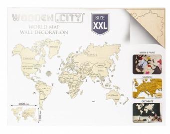 Wooden City Puzzle World Map XXL Natural 110pcs