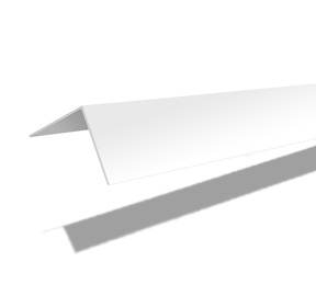 Nurgaliist PVC C25 25X25 mm 2.7 m valge