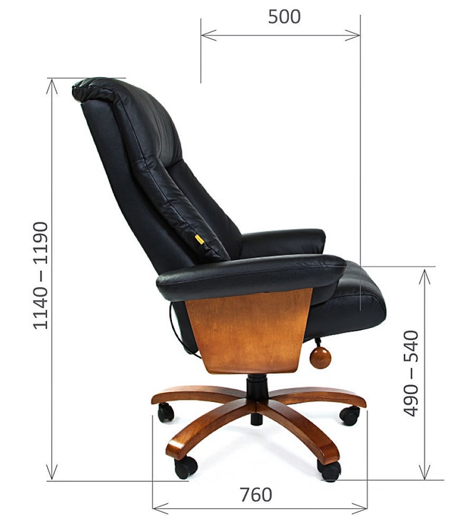 Biroja krēsls Chairman 400 Black