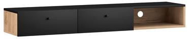 TV galds Vivaldi Meble Tulia, melna/ozola, 1400x300x180 mm