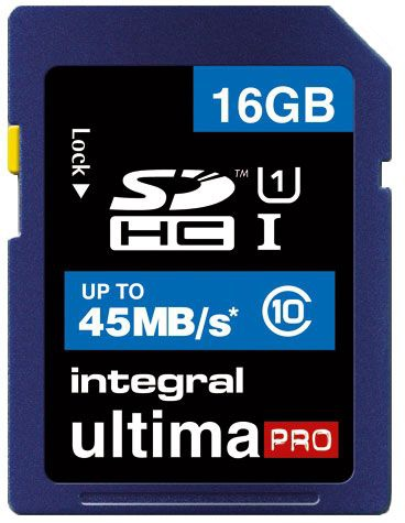 Integral Ultima Pro 16GB SDHC UHS-1 Class 10