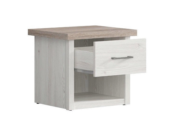 Black Red White Luca Juzi Nightstand Dark Sonoma Oak