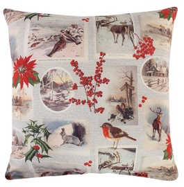 Home4you Holly Pillow 45x45cm Winter/Animals