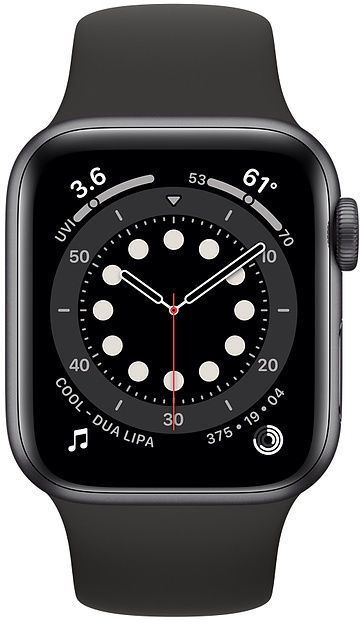 Apple Watch Series 6 GPS 40mm Space Gray Aluminum Black Sport Band