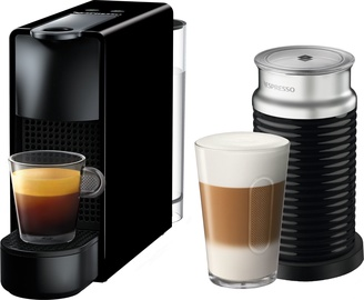 Nespresso Coffee Machine w/ Milk Frother Essenza Mini C30 XN1118 Black