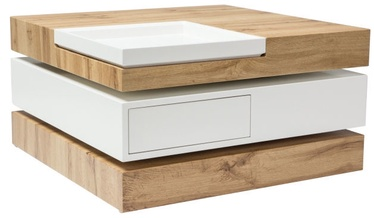 Signal Meble Trista III 70 Coffee Table 70x70x38cm Oak/White