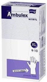 Matopat Ambulex Nitryl Powder Free Gloves XL White 100pcs