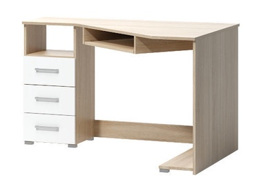 WIPMEB Tatris 17 Desk Left Sided Sonoma Oak/White