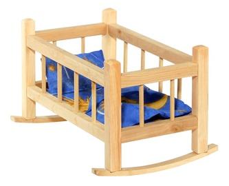 Žaislinė medinė lėlės lovytė 000051312885