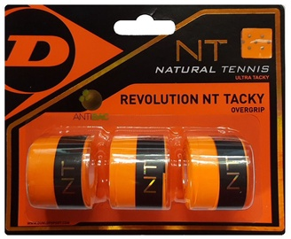 Dunlop Revolution NT Tacky Overgrip Orange 3pcs