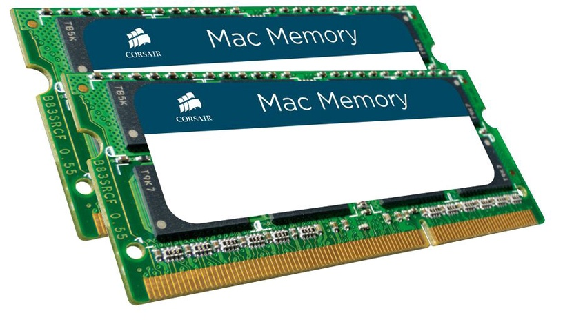 Corsair Mac Memory 8GB DDR3 CL9 SO-DIMM KIT OF 2 CMSA8GX3M2A1333C9