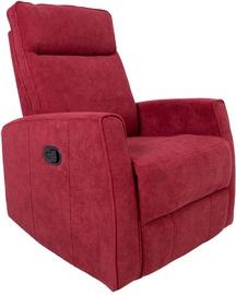Fotelis Home4you Eddy 13856, raudonas, 76x96x103 cm
