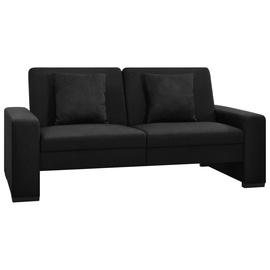 Диван-кровать VLX Fabric 2-Seater 323614, черный, 176 x 83 x 81 см