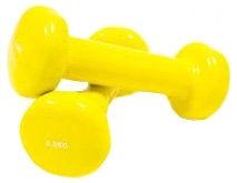 Sport Systems Vinyl Dumbbells DB010 2 x 0.5kg Yellow