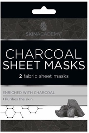 Skin Academy Charcoal Sheet Masks 2pcs