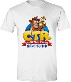 Licenced Crash Team Racing Nitro Fueled Logo T-Shirt White L