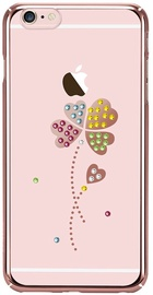 X-Fitted Lucky Clover Swarovski Crystals Back Case For Apple iPhone 6/6s Rose Gold