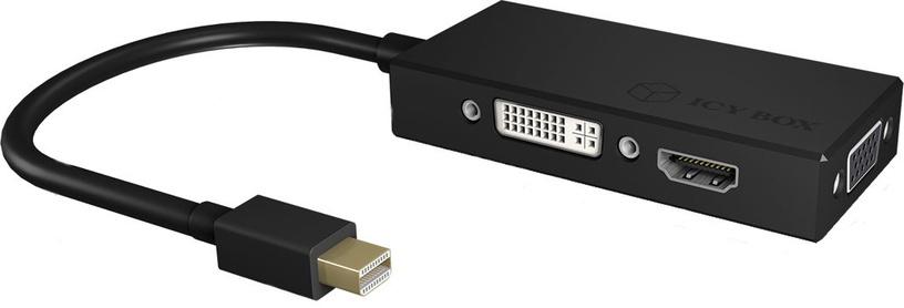 IcyBox Adapter Mini DisplayPort To HDMI/DVI-D/VGA 3-in-1 IB-AC1032