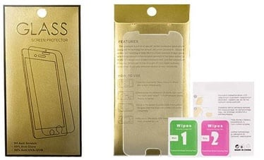 Gold Tempered Glass Screen Protector For Apple iPhone 4/4s