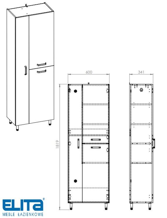 Шкаф для ванной Elita Eve 167064