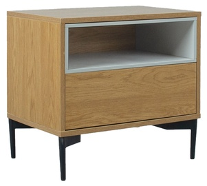 Home4you Delano Night Stand Oak/Grey