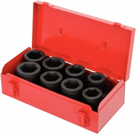 KS Tools 515.0610 Hexagon Impact Socket Set 27-38mm 8pcs