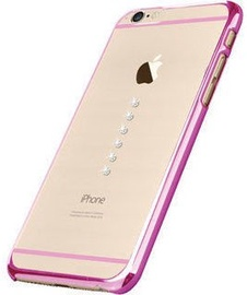 X-Fitted Six Stones Swarovski Crystals Back Case For Apple iPhone 6/6s Pink