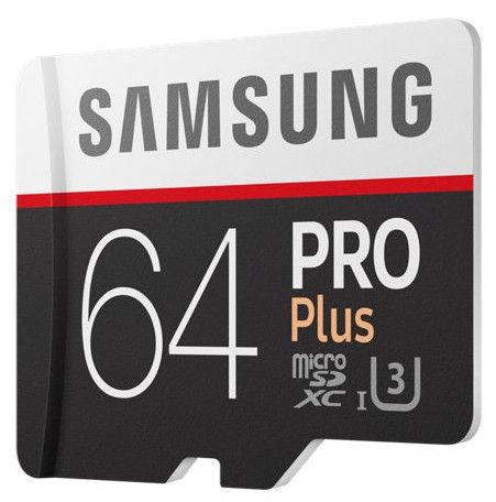 Samsung microSD Pro Plus 64GB UHS-I U3 Class10 + Adapter