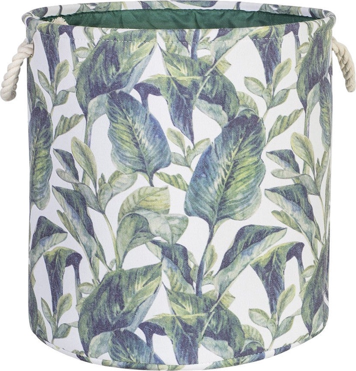 Home4you Tropic 2 Basket D35xH35cm Tropic Leaves 83592