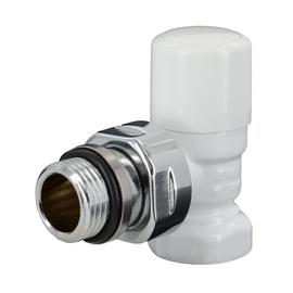 Kampinis uždaromasis ventilis, Carlo Poletti V140410E, 1/2 x 1/2 IN, baltas