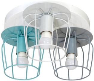 Milagro Carlos 530 Ceiling Lamp 3x60W E27 Turquoise Blue/Gray/White
