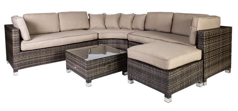 Home4you Dawson Garden Furniture Kit Dark Brown