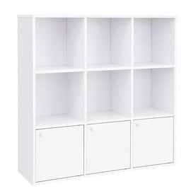 Songmics Bookcase 97.5x30x97.5cm White