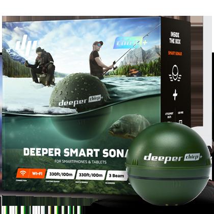 Išmanus žuvų paieškos sensorius Deeper Chirp+