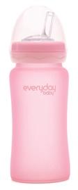 Everyday Baby Glass Straw Bottle 240ml 10384 Rose Pink