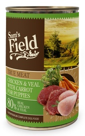 Sam's Field True Meat Chicken & Veal w/ Carrot For Puppies Wet Food 400g
