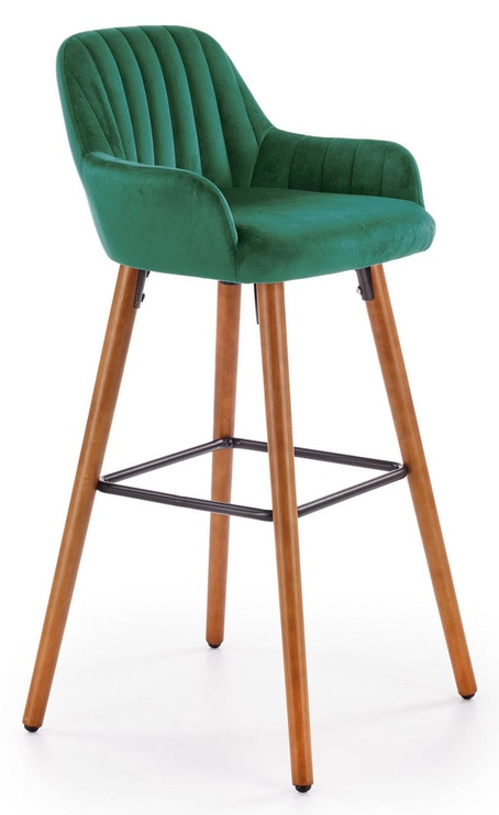 Halmar H93 Bar Stool Dark Green/Walnut