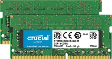Crucial 16GB 2666MHz CL19 DDR4 SODIMM KIT OF 2 CT2K8G4SFS8266