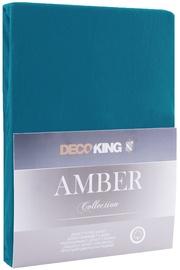 DecoKing Amber Bedsheet 100-120x200 Blue Sapphire