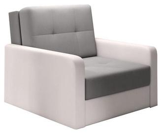 Dīvāngulta Idzczak Meble Top 1 Bahama 31 Gray/Soft 17 White, 104 x 104 x 92 cm