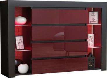 Pro Meble Milano 4SZ Black/Red