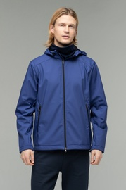 Audimas Mens Waterproof Jacket With Mask Navy Blue M