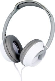 Ausinės Forever CM-400 On-Ear Headphones White/Grey w/ Bag