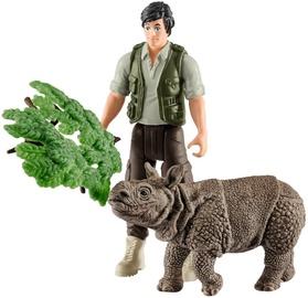 Schleich Wild Life Ranger & Indian Rhinoceros Starter Set 42428