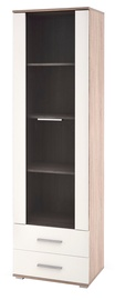 Halmar Lima W-1 Cabinet White/Sonoma Oak