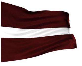 Karogs Latvijas 100x200cm bieza auduma